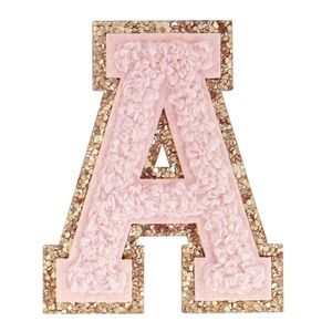 ❗NOW IN STOCK❗Pink Glitter Chenille Varsity Patch